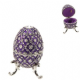 Musical Purple Egg Trinket Box From the Treasured Trinket Range 15249